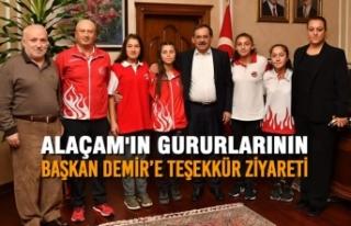Alaçam'ın Gururlarının Başkan Demir'e...