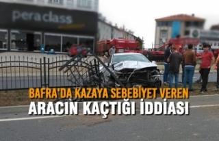 Bafra'da Kazaya Sebebiyet Veren Aracın Kaçtığı...