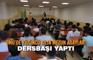 OMÜ'de Yüzüncü Yılın Mezun Adayları Dersbaşı...