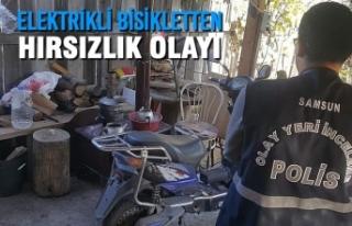 Bafra'da Elektrikli Bisikletten Hırsızlık