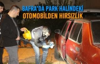 Bafra'da Park Halindeki Otomobilden Hırsızlık