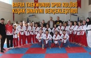 Bafra Taekwondo Spor Kulübü Kuşak Sınavını Gerçekleştirdi