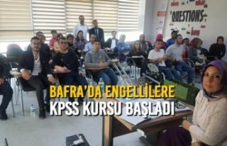 Bafra'da Engellilere Kpss Kursu Başladı