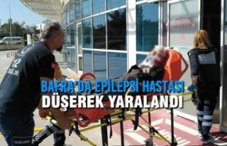Bafra'da Epilepsi Hastası Düşerek Yaralandı
