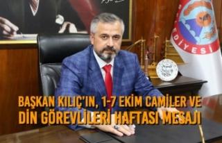 Başkan Kılıç'ın, 1-7 Ekim Camiler Ve Din Görevlileri...