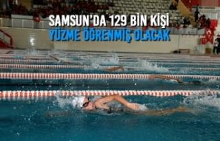 Samsun'da 129 Bin Kişi Yüzme Öğrenmiş Olacak