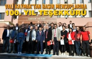 Vali Kaymak'tan Basın Mensuplarına 100. Yıl...