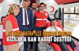 AK Parti Bafra İlçe Başkanlığından Kızılay'a...