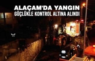 Alaçam'da Yangın Güçlükle Kontrol Altına...