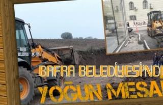 Bafra Belediyesi'nden Yoğun Mesai