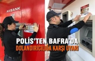 Polis'ten Bafra'da Dolandırıcılığa Karşı...