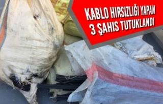 Samsun'da Kablo Hırsızlığı Yapan 3 Şahıs...