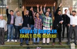 TÜGVA'lı Gençler İsrail'e Tepki Gösterdi