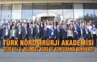 Türk Nöroşirürji Akademisi 2019 yılı 5. Bilimsel...