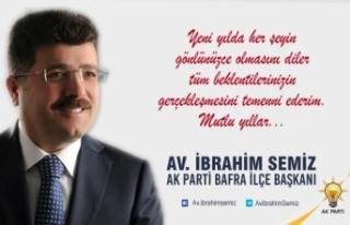 Ak Parti İlçe Başkanı Av.İbrahim Semiz'in Yeni...