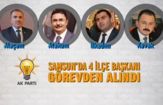 AK Parti Samsun'da 4 İlçe Başkanı Görevden...
