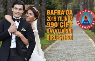 Bafra'da 2019 Yılında 990 Çift Hayatlarını...