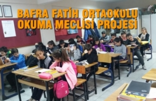 Bafra Fatih Ortaokulu Okuma Meclisi Projesi