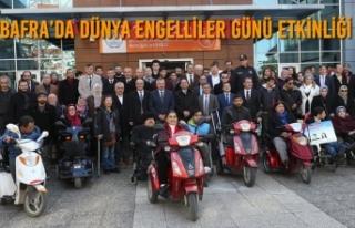 Bafra'da 3 Aralık Dünya Engelliler Günü Etkinliği