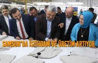 "Başkan Aksu; ""Samsun'da İstihdam ve Üretim..."