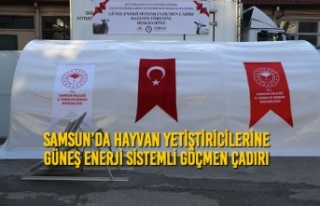Samsun'da Hayvan Yetiştiricilerine Güneş Enerji...