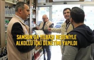 Samsun'da Yılbaşı Nedeniyle Alkollü İçki Denetimi...