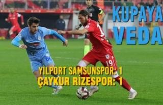 Yılport Samsunspor : 1 - Çaykur Rizespor: 1
