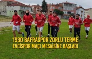 1930 Bafraspor Zorlu Terme Evcispor Maçı Mesaisine...