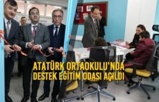Atatürk Ortaokulunda Destek Eğitim Odası Açıldı