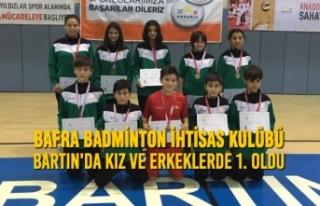 Bafra Badminton İhtisas Kulübü Bartın'da...