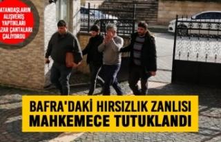 Bafra'daki Hırsızlık Zanlısı Tutuklandı