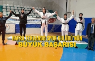 Bafra Tekvando Spor Kulübü'nün Büyük Başarısı