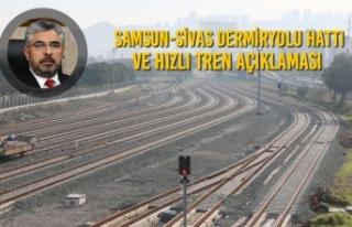 Başkan Aksu'dan Samsun-Sivas Dermiryolu Hattı...