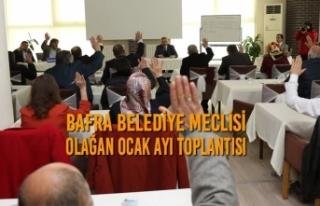 Belediye Meclisi Olağan Ocak Ayı Toplantısı Yapıldı