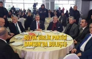 Büyük Birlik Partisi Samsun'da Buluştu