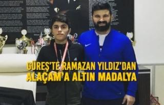 Güreş'te Ramazan Yıldız'dan Alaçam'a Altın...