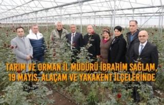 İbrahim Sağlam, 19 Mayıs, Alaçam ve Yakakent İlçelerinde