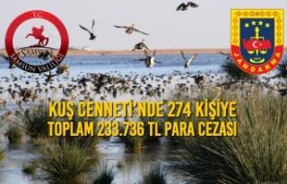 Kuş Cenneti'nde 274 Kişiye Toplam 233.736 TL Para...