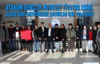 Atakum Gençlik Merkezi Tiyatro Ekibi, Depremzede...