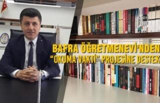 """Bafra Öğretmenevi """"OKUMA VAKTİ"""" Projesine Destek"""