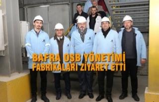 Bafra OSB Yönetimi Fabrikaları Ziyaret Etti