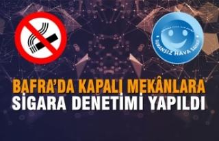 Bafra'da Kapalı Mekânlara Sigara Denetimi Yapıldı
