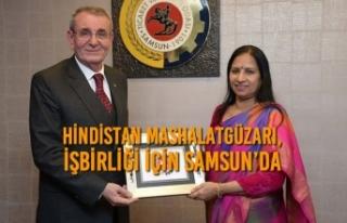 Hindistan Mashalatgüzarı, İşbirliği İçin Samsun'da