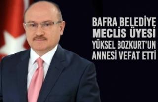 Bafra Belediye Meclis Üyesi Yüksel Bozkurt'un...