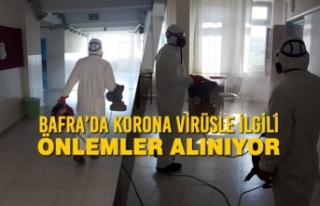Bafra'da Korona Virüsle İlgili Önlemler Alınıyor