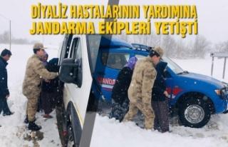 Diyaliz Hastalarının Yardımına Jandarma Ekipleri...