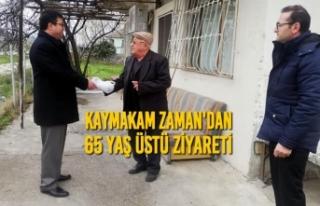 Kaymakam Zaman'dan 65 Yaş Üstü Ziyareti