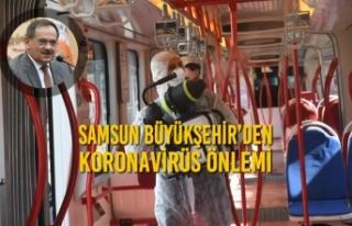 Samsun Büyükşehir'den Koronavirüs Önlemi