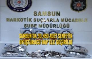 Samsun'da 30.450 Adet Sentetik Uyuşturucu Hap Ele...
