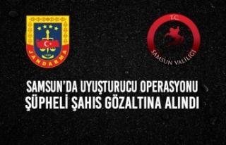 Samsun'da Uyuşturucu Operasyonu; 1 Şahıs Gözaltına...